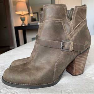 Ivanka Trump Distressed Genuine Leather Booties
